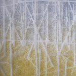 """Hopfenplantage"" III, Papier, Pigmente, 32,5 x 26,5 cm"