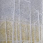 """""""Hopfenplantage"""" IV, Papier, Pigmente, 32,5 x 26,5 cm"""