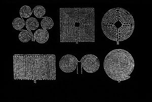 Labyrinthe 1, cinefoil perforated, light, wood, 21 x 29,5 cm