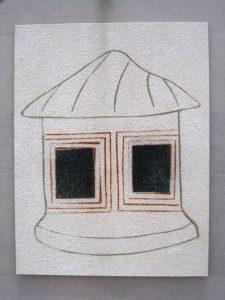 O.T., Baustoffe auf Papier, 29,5 x 21 cm