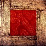 O.T., Graphit, Pigmente, Wachs auf Pappe u. auf Holz, 100 x 100 cm