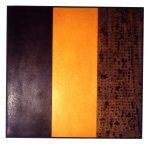 O.T., Graphit, Pigmente, Wachs auf Pappe u. auf Holz, 75 x 77 cm
