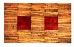 O.T., Graphit, Pigmente, Wachs auf Pappe u. auf Holz, 150 x 250 cm